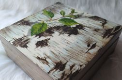 szkatułka z korą brzozy