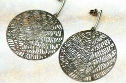 Kolczyki koła w kolorze srebra Hemera c675-ko