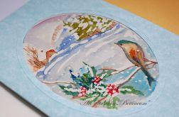 Karnet malowany ręcznie -Akwarela Nr 8-
