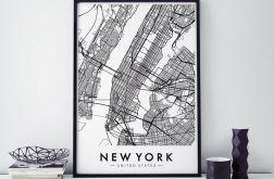 Plakat mapa nowy jork New York 50X70cm B2