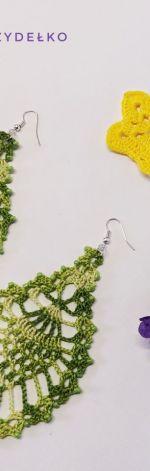 Zielone kolczyki liscie