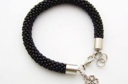 Bransoletka wąż czarna1