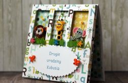 Mini zoo - kartka urodzinowa
