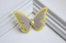 FairyBows * spinka MOTYLEK z perełką
