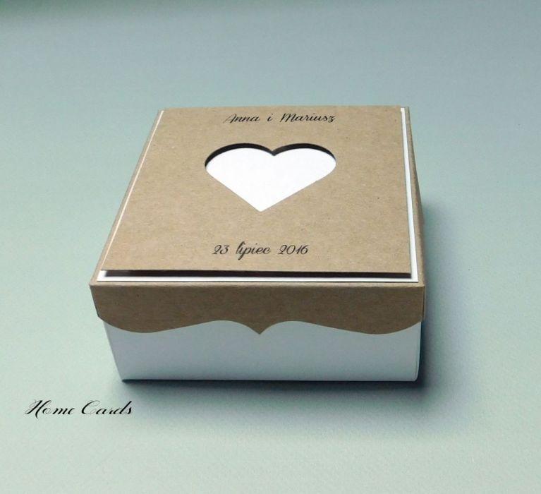 Zaproszenia ślubne w formie pudełka eko