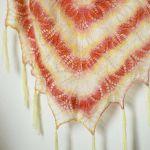 Energiczne kolorki ciepła duża chusta