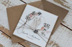 Kartka ślubna z kopertą - życzenia i personalizacja 1t