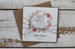 Kartka ślubna z kopertą - życzenia i personalizacja 1u