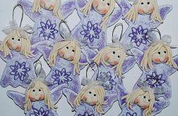 Aniołki - fioletowo