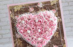Różowe serce vintage