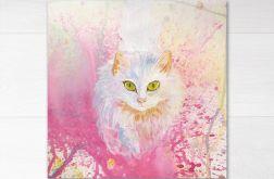 Kot turecki biały z serii Psy i koty