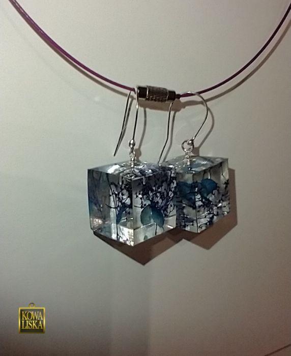 Cube II - duże kolczyki z żywicy -
