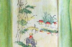 Zakładka malowana na jedwabiu - nr 6