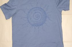 "rozmiar L Szara koszulka ""Ethnic sun""- 1"