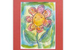 obrazek z kwiatkiem rysunek dla dziewczynki