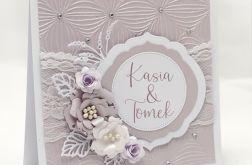 kartka ślubna z imionami i kompozycją KSK2004