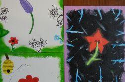 Obraz malowane kwiaty. Robiony na zamówienie.