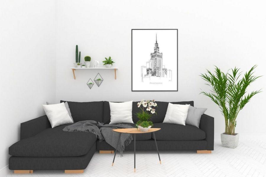 grafika Warszawa PKIN styl skandynawski - Grafika do nowoczesnego mieszkania