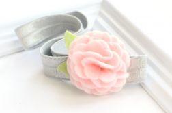 FairyBows * opaska * kwiatuszek różowy