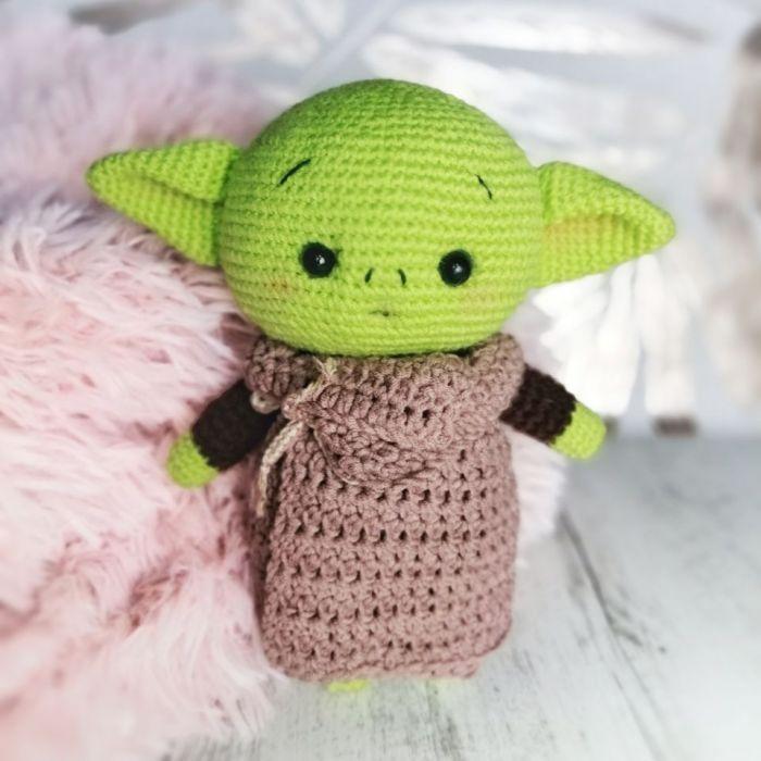 Baby Yoda - Szydełkowa Maskotka - Baby Yoda
