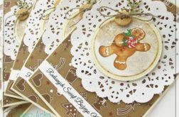 Piernikowa kartka świąteczna z piernikiem 1