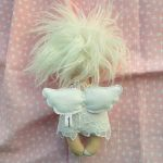 ANIOŁEK lalka - dekoracja tekstylna, OOAK/22 - tak wyglądam z tyłu