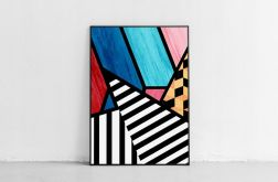 Plakat abstrakcja geometria 50X70 B2