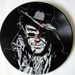 Sherlock Holmes Zegar z płyty winylowej