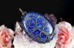 Drzewko Szczęścia wisior z lapis lazuli
