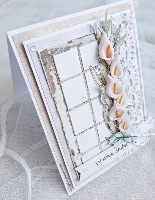 Kartka ślubna - Rozłożona