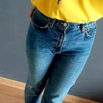 Koszulka ręcznie malowana unikat żółta unisex