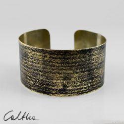 Prążki - mosiężna bransoleta 140319-02