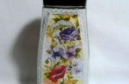 Pojemnik z motywem kwiatów