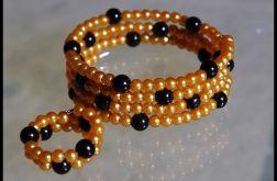 Złoto-czarna spirala