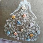 Poszewka na poduszkę z damą - Poszewka dekoracyjna