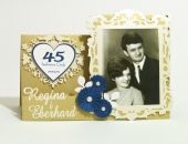 Kartka z okazji 45 rocznicy ślubu ze zdjęciem