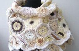 Szal freeform crochet, ślub