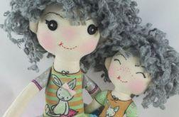 Lalka szmacianka z młodszą siostrą LIMITED