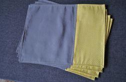 Podkładki pod talerze - żółto-szare - 4 sztuki