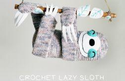 Zabawka LENIWIEC // crochet sloth