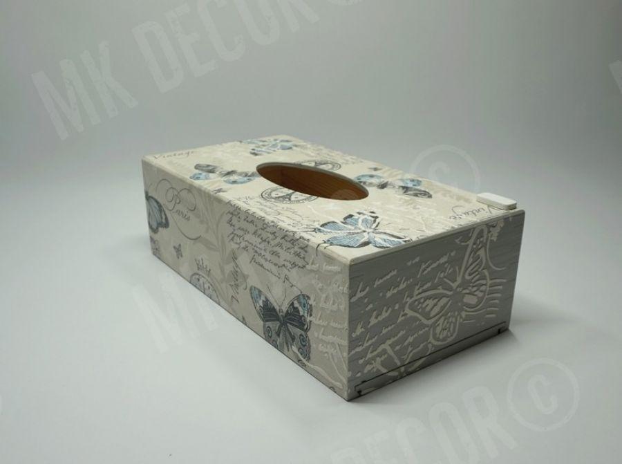 Pudełko prostokątne na chusteczki - pudełko z frontu 3