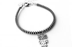 Designerska bransoletka z zawieszką sowa