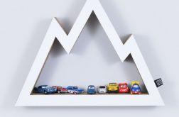 Półka na książki zabawki GÓRY | biały