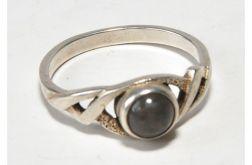 21 pierścionek vintage, naturalny ametyst,