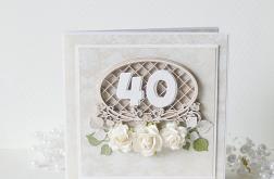 """Kartka urodzinowa """"40"""" v.2"""