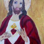 Serce Jezusa - ikona  - zblizenie na ikonę