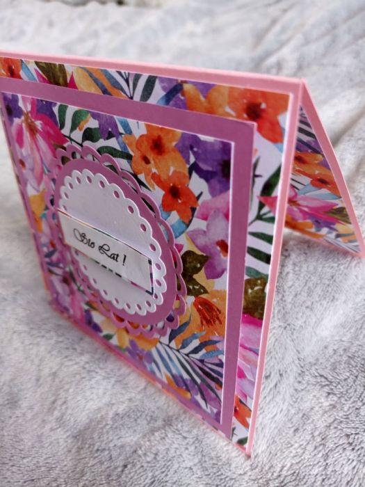Kartka urodzinowa egzotyczne kwiaty