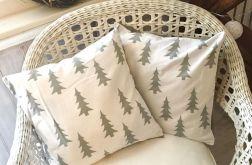 Poszewka poduszka święta szara choinka