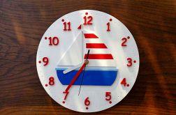 Zegar dla dziecka z żaglówką