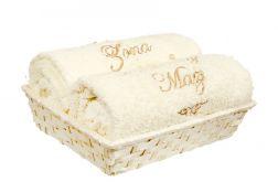 Zestaw ręczników z haftem retro